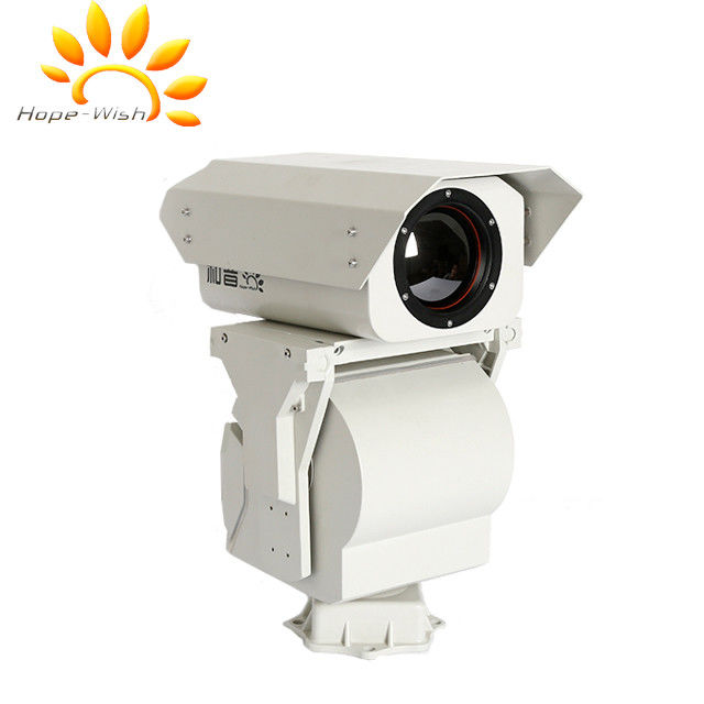 Weatherproof IP 66 PTZ Thermal Imaging Security Camera With Zoom Lens
